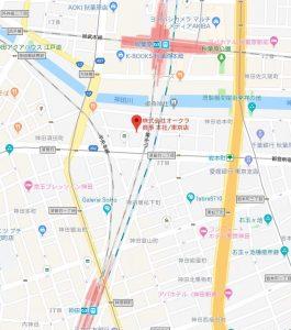 オークラ商事地図